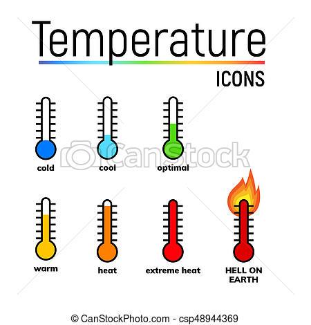temperature icon, clip art.