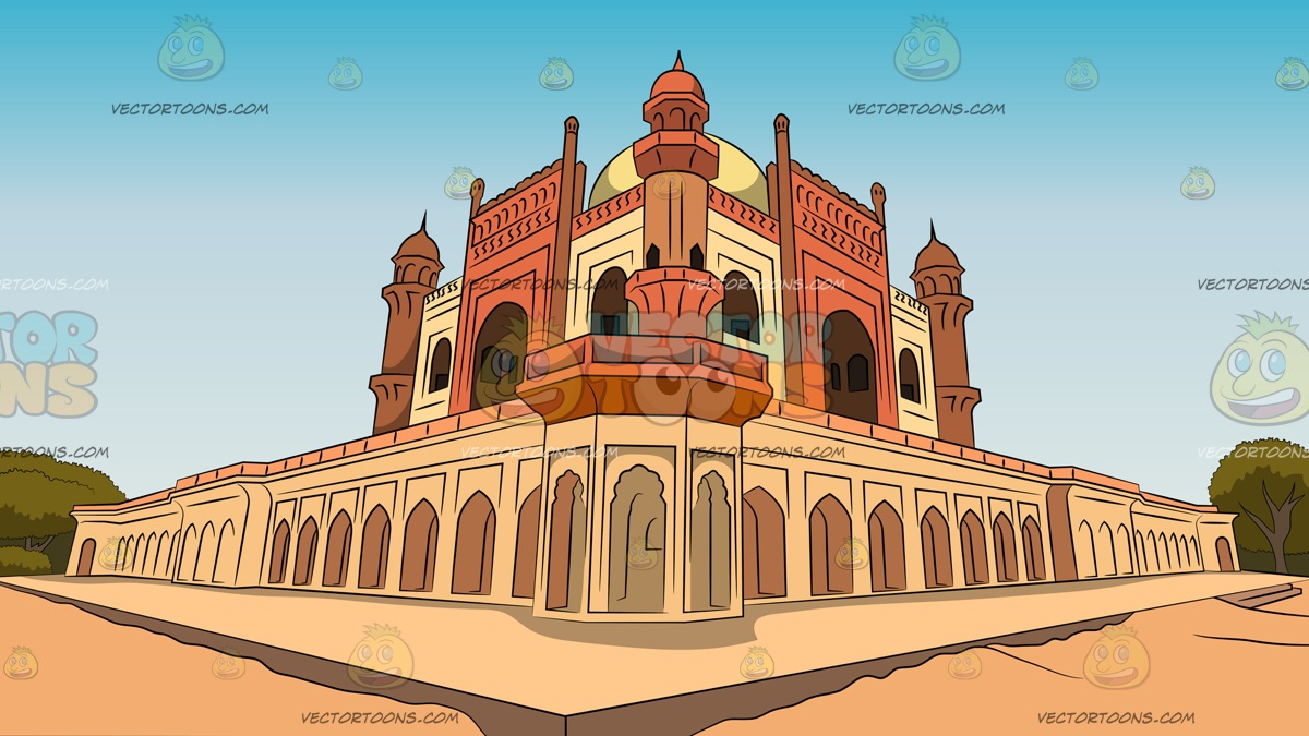 Temple Background Clipart.