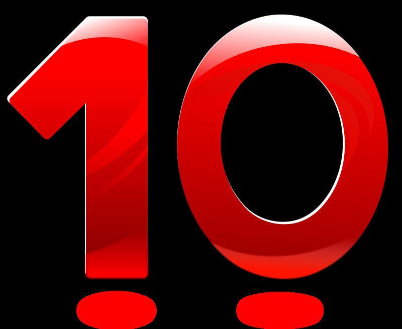 Number Ten Clipart.