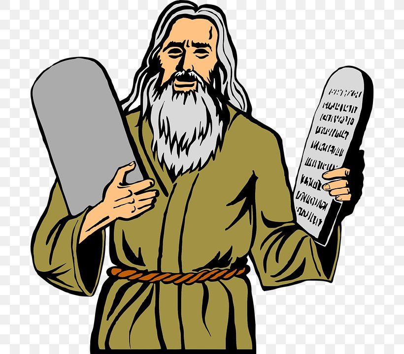Moses Clip Art Ten Commandments Mount Sinai Bible, PNG.