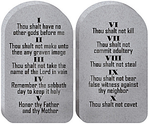 Ten Commandments Tablets cover photo.