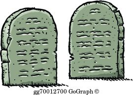 Ten Commandments Clip Art.