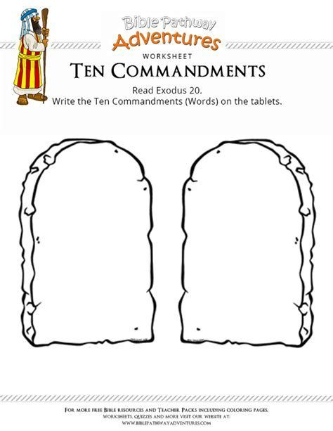 Image result for Blank Printable Ten Commandments Tablets.