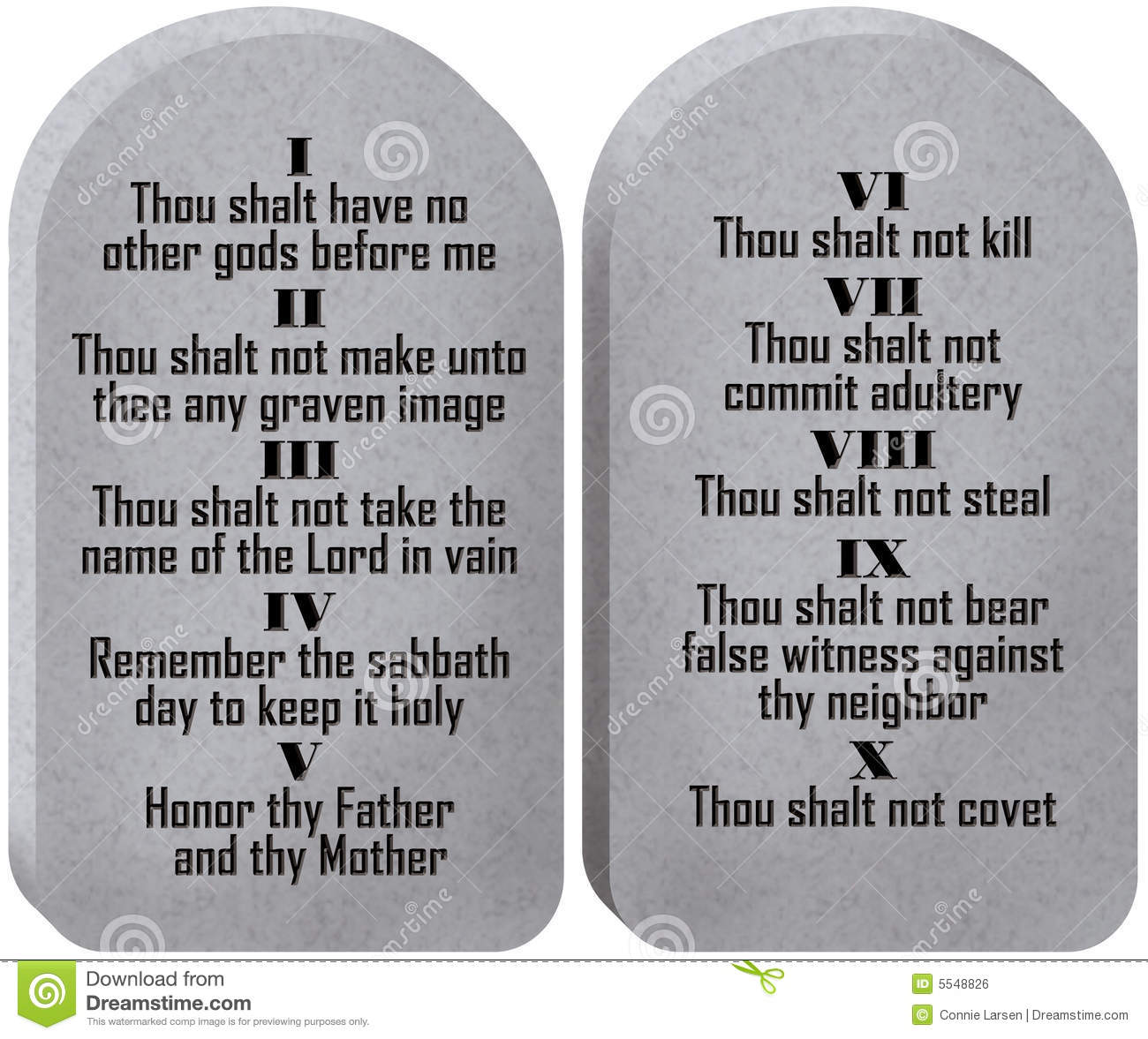 Ten Commandments Tablets stock illustration. Illustration of rules.
