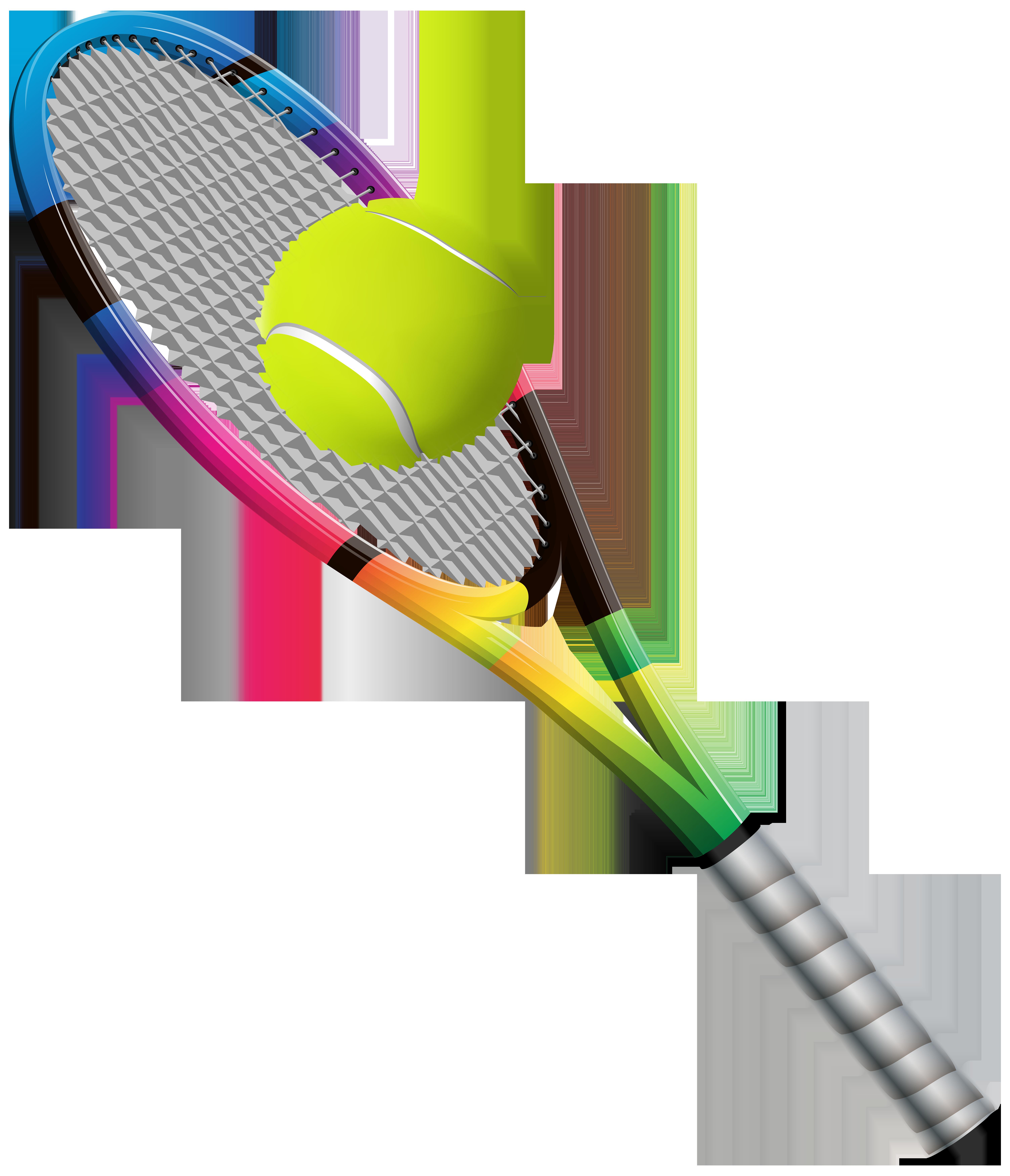Tennis Racket and Ball Transparent PNG Clip Art Image.