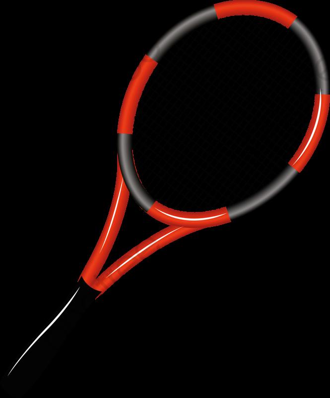 Cartoon Tennis Racket, Cartoon Clipart, Tennis Clipart, Red PNG.