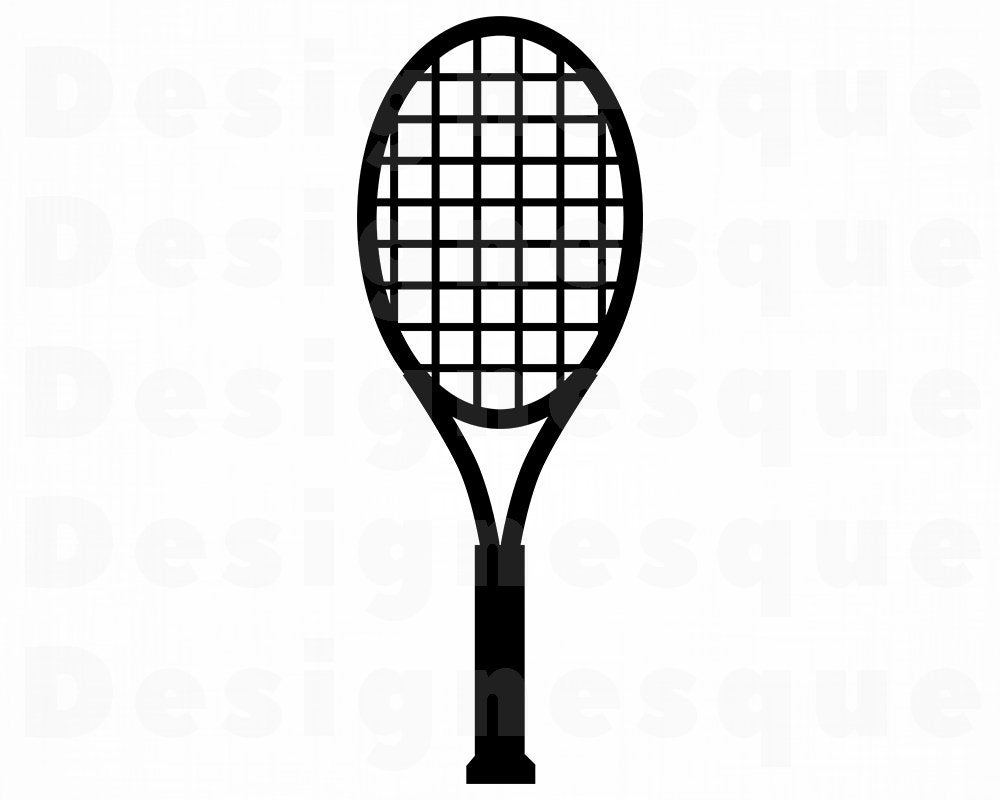 Tennis Racket SVG, Tennis Racquet SVG, Tennis Racket Clipart, Tennis Racket  Files for Cricut, Cut Files For Silhouette, Dxf, Png, Vector.