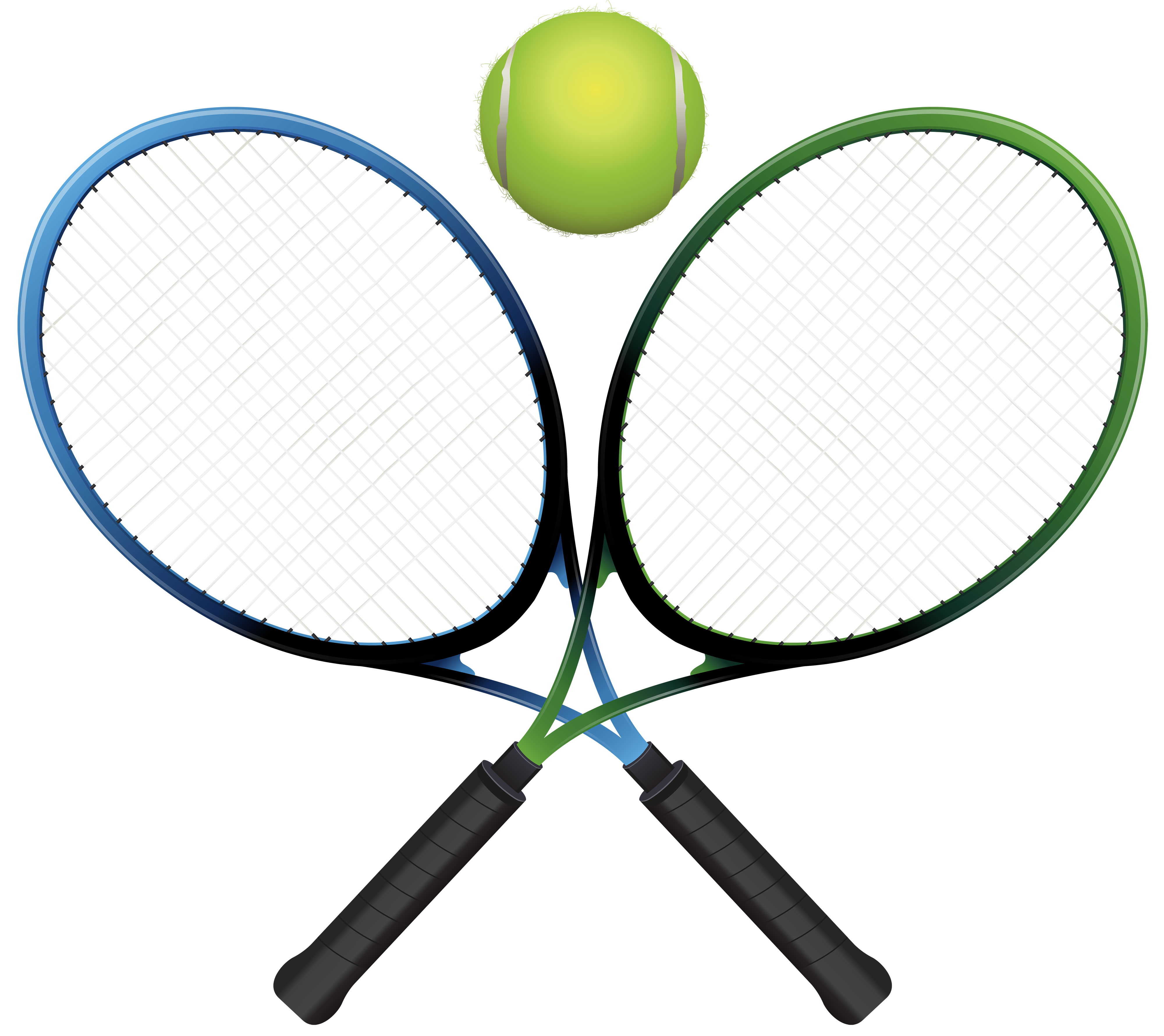 Tennis Rackets and Ball PNG Clipart.