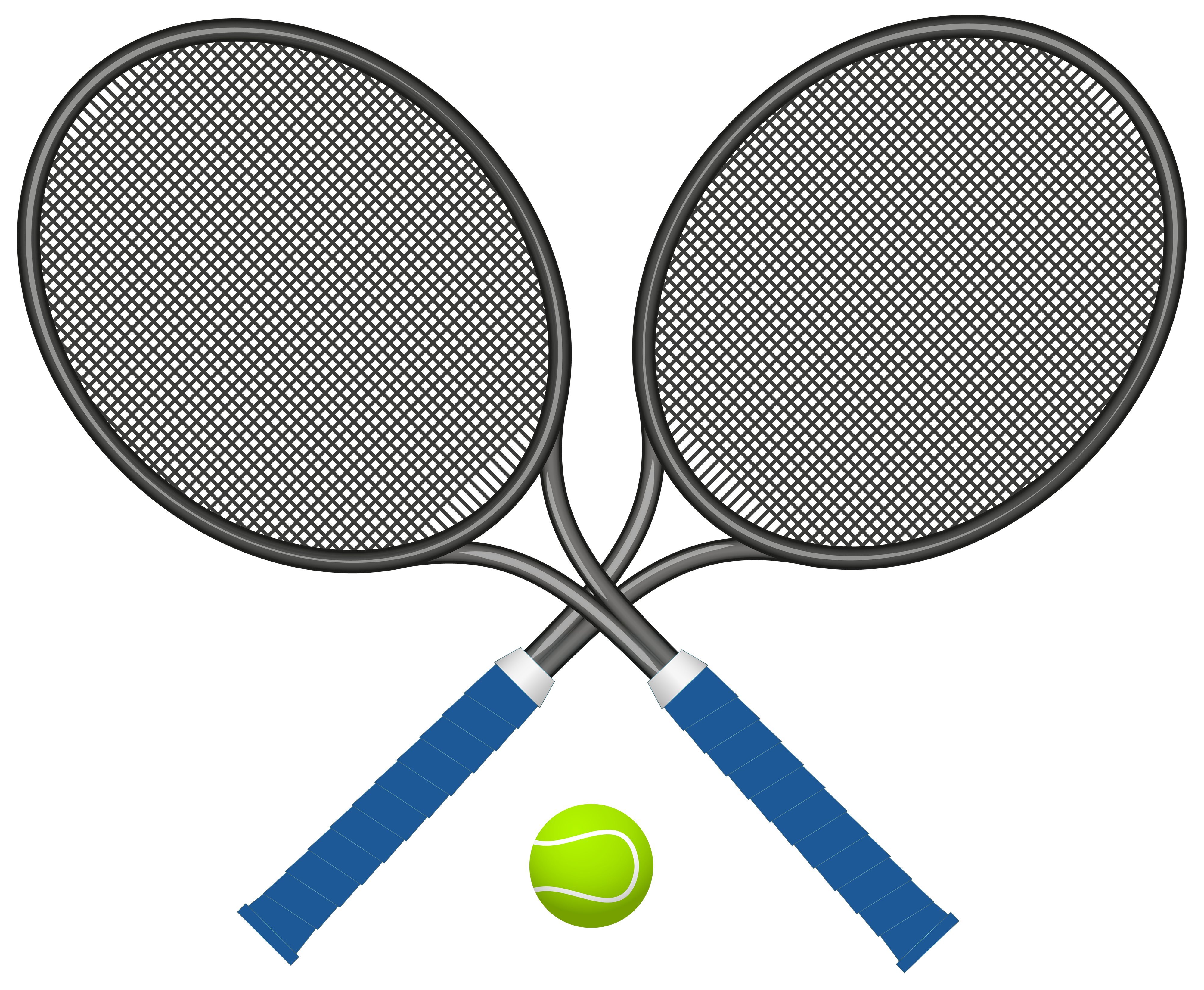 Tennis Rackets with Ball PNG Clipart.