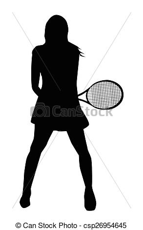 EPS Vector of Tennis Girl.