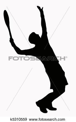Clip Art of Sport Silhouette.