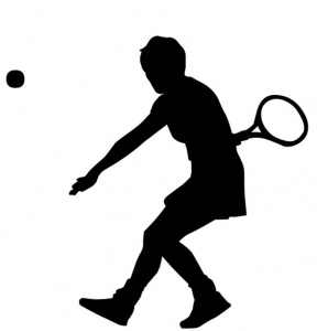 Clipart Of Tennis Silhouettes Tennis Player Silhouette In.