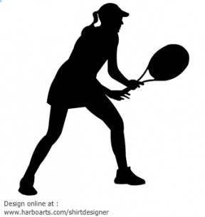 Action Figures Tennis Silhouette, Clip Art.