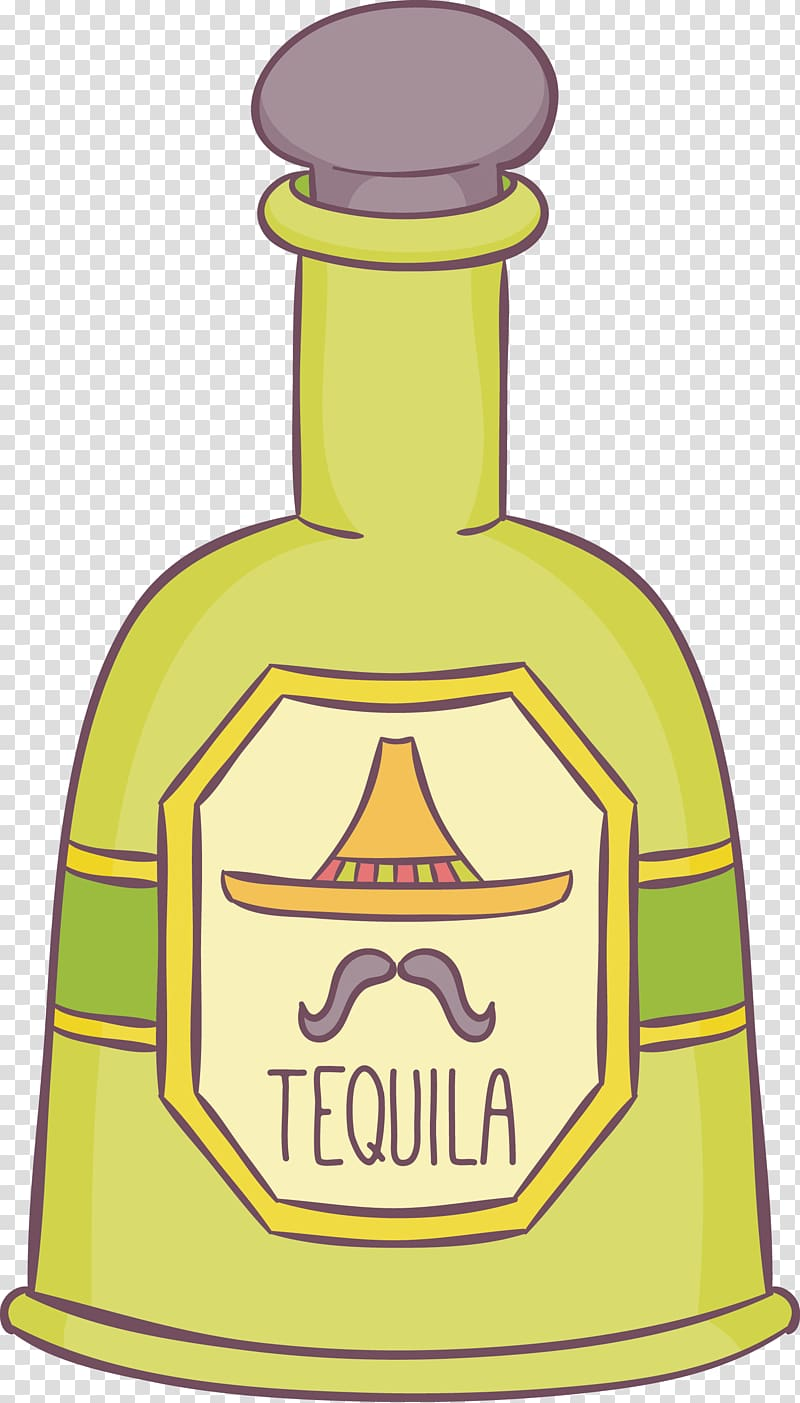 Tequila Bottle Alcoholic drink, hand.