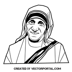 Mother Teresa free vectors.