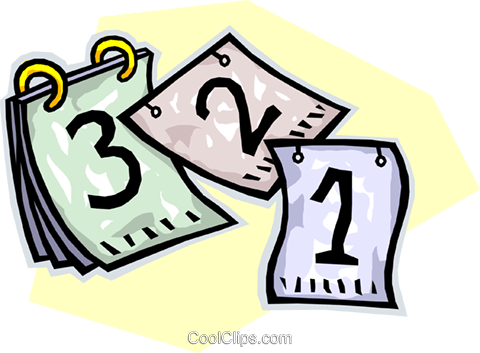 calendars Royalty Free Vector Clip Art illustration.
