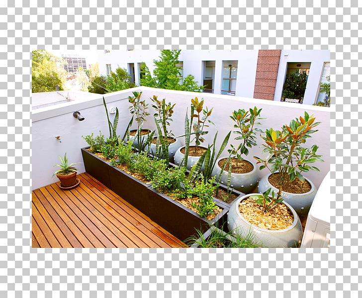 Terrace garden Roof garden Garden design, balcony PNG.