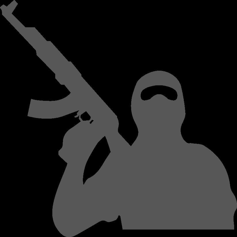 Silhouette Terrorism Black.