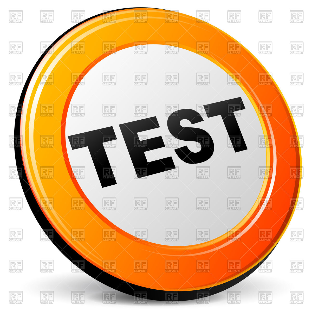 Orange test icon Stock Vector Image.
