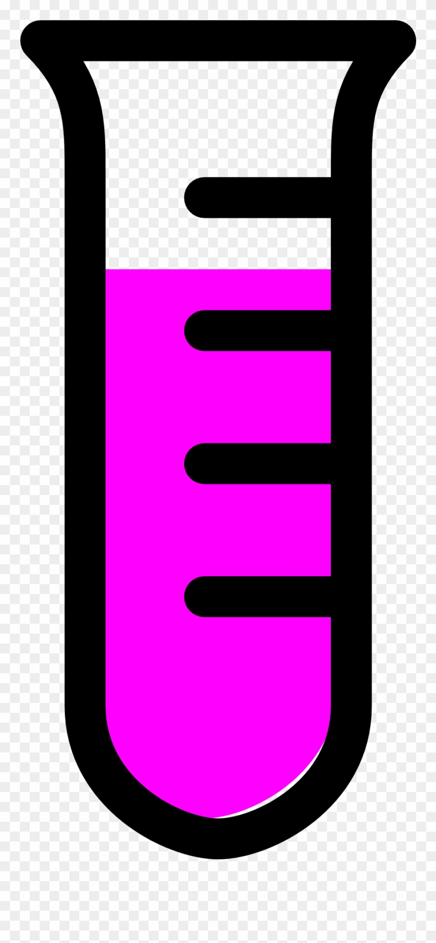 Empty Test Tube Clipart.