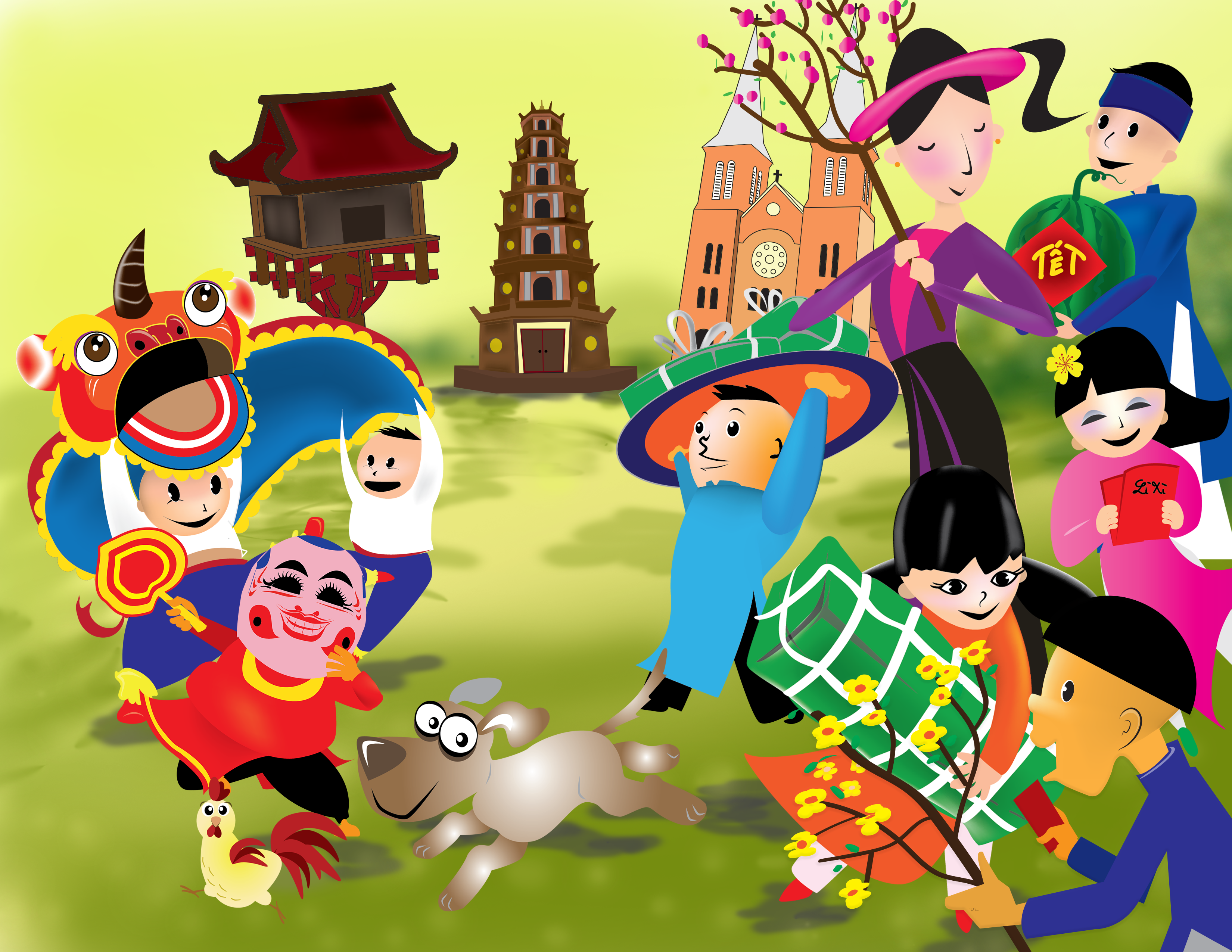 Tet Holiday Clipart.