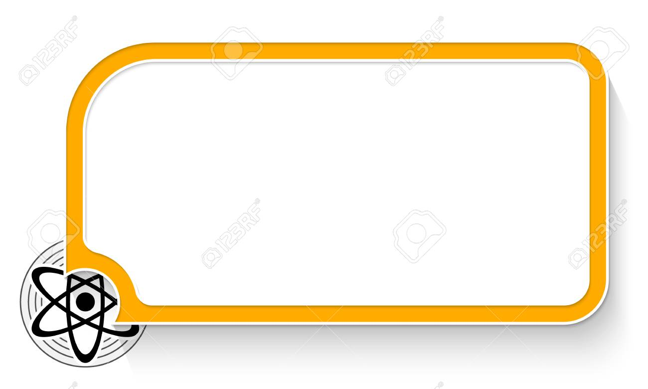 Yellow text box for your text and science symbol » Clipart.