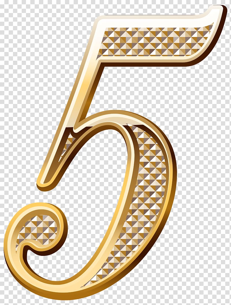 Gold 5 illustration, Papua New Guinea Number Chunk Icon.