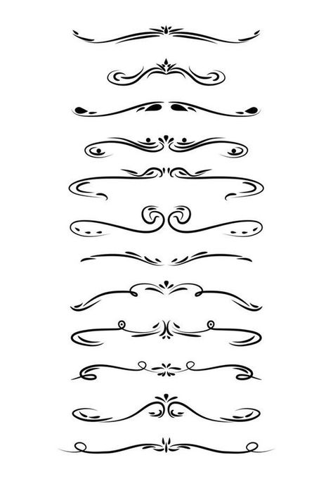 Wedding Clipart, Page Divider Clipart, Line Dividers.