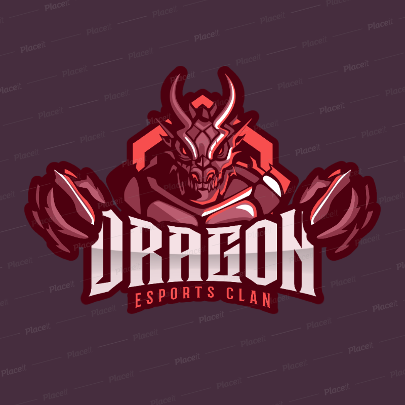 Gaming Logo Generator with a Demonic Character Clipart 2206b.
