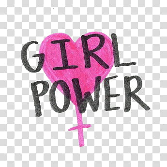 girl power text transparent background PNG clipart.