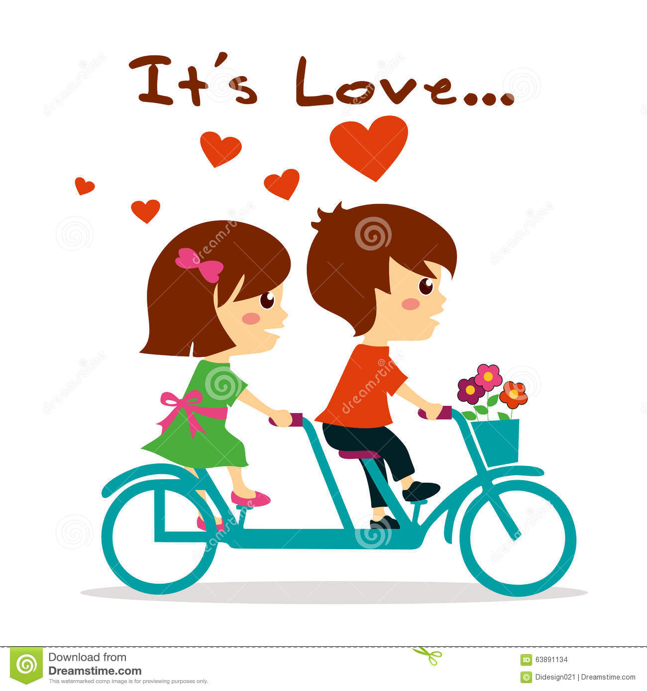 Girl And Boy In Love Clipart.
