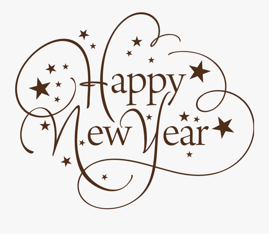 Happy New Year Thin Text.