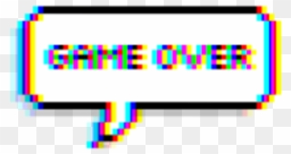 Game Gameover Glitch Tumblr Balloon Text.