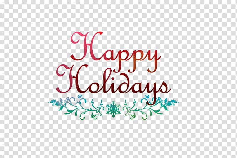 Christmas Materials , happy holidays text transparent.