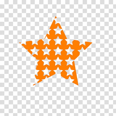 Crea tu propia TEXTURA, orange star illustration transparent.