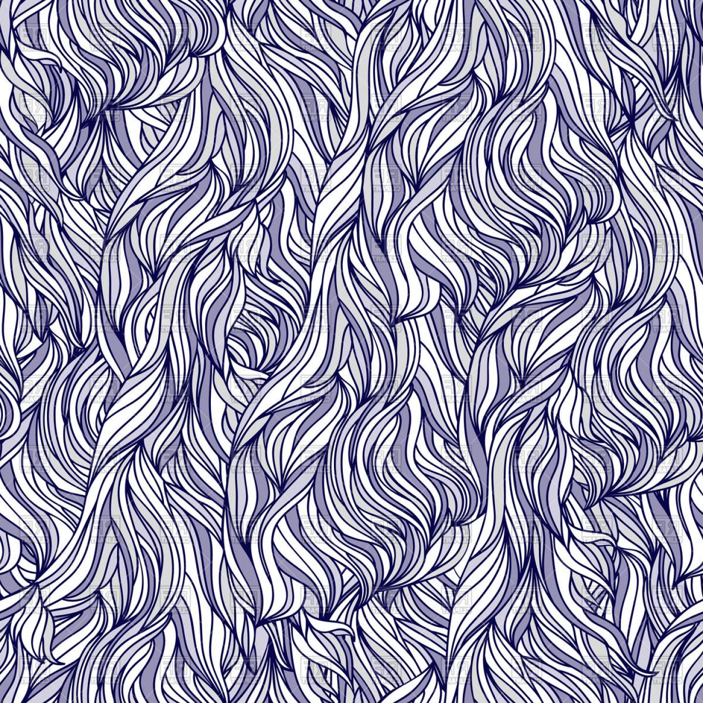 Interweaving Abstract Seamless Pattern Mess Hair Texture Vector.