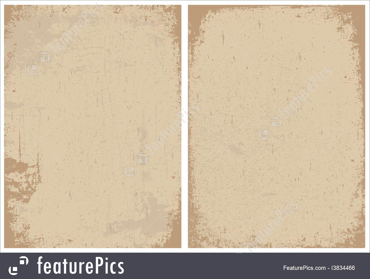 Vector Clipart Distressed Paper Texture Set.