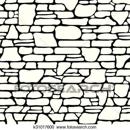 Seamless Stone Texture Clipart.