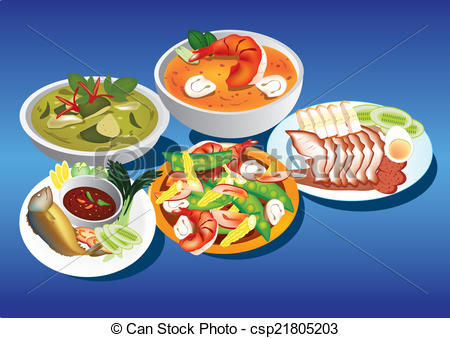 Thai food Illustrations and Clip Art. 1,833 Thai food royalty free.