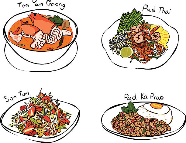 Thai Food Clip Art, Vector Images & Illustrations.