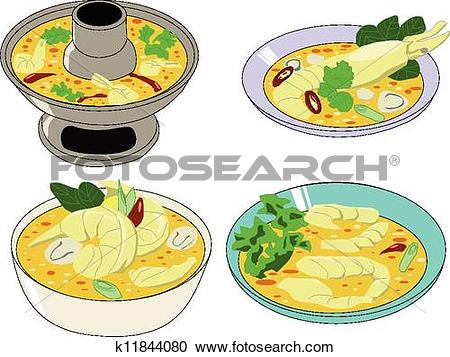 Clipart of Tomyamkung, Thai food k11844080.
