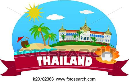 Thailand. Tourism and travel Clipart.