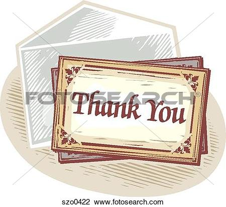 Clip Art of thank you card szo0422.