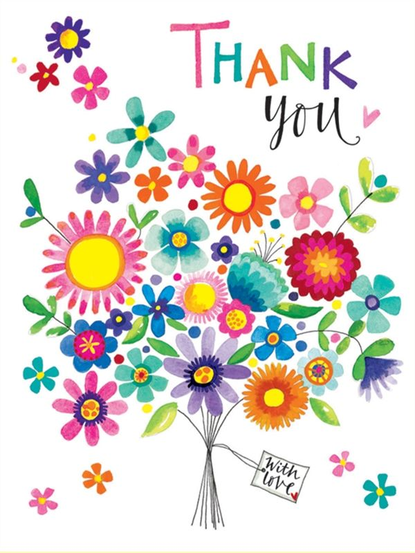 Thank You Clipart With Flowers.