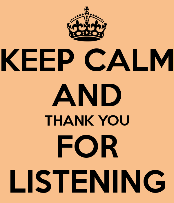 Clipart Thank You For Listening.