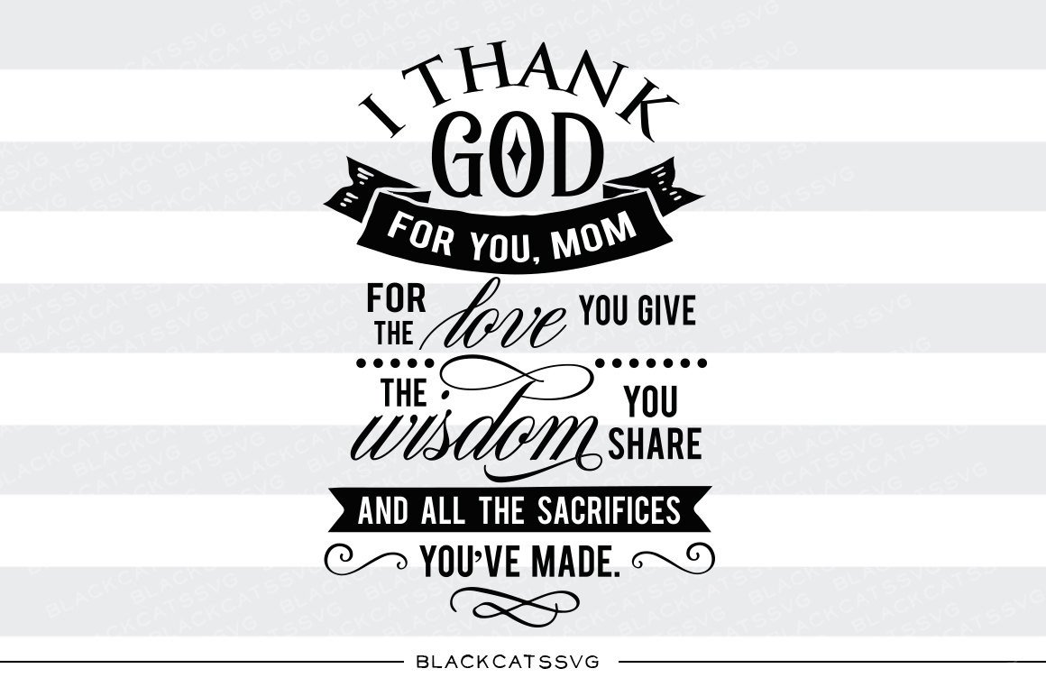 Thank you Mom SVG file Cutting File Clipart in Svg, Eps, Dxf, Png for  Cricut & Silhouette.
