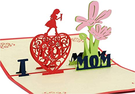 IShareCards Handmade 3D Pop Up Mother\'s Day Greeting Cards Thank You Cards  for Mom.