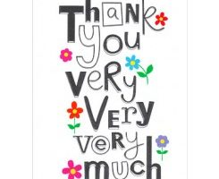 Thank you so much clipart » Clipart Station.