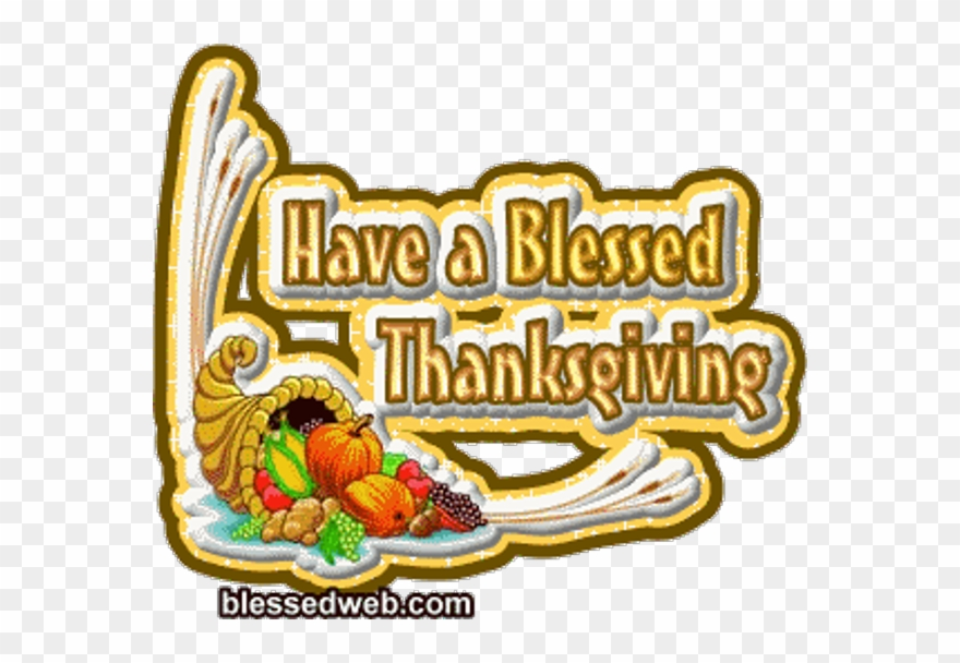Happy Thanksgiving Blessings Gif Clipart (#1295290).