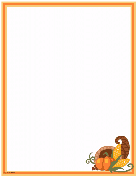 thanksgiving page borders free.